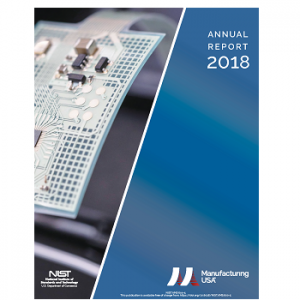 Cover image of the Manufacturing USA 2018 Annual Report