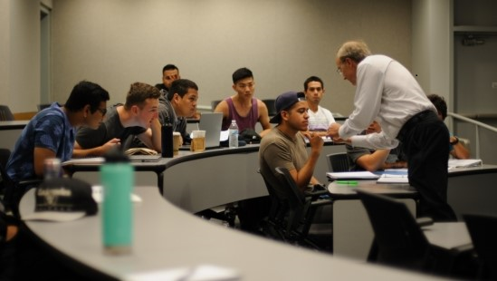 "Students participating in a two-unit undergraduate course at the University of California Santa Barbara (UCSB), ""Workforce and Internship Skills,"" which was created as part of an AIM Photonics Academy Workforce Development Project"