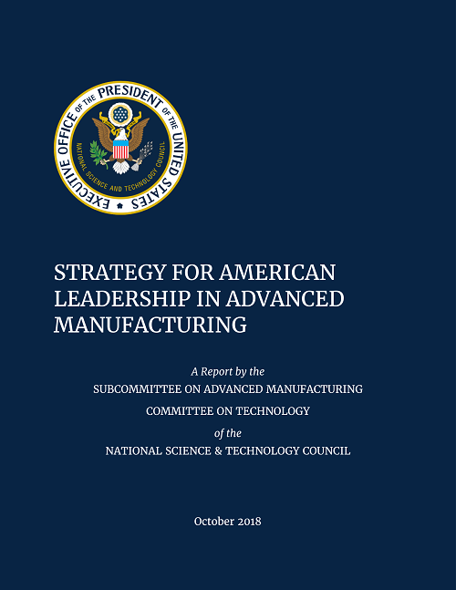 Advanced Manufacturing Strategic Plan Cover