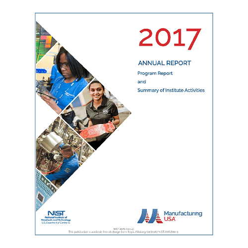Cover image of the Manufacturing USA 2017 Annual Report